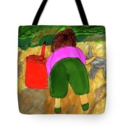 A Fall Walk On The Beach Tote Bag