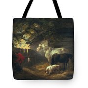 A Farmyard Tote Bag by George Morland