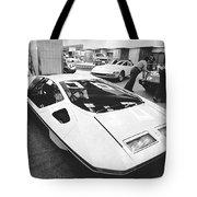 A Ferrari Modulo At Auto Show Tote Bag
