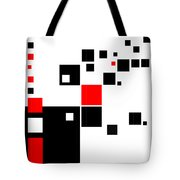 Black And Red Squares Tote Bag