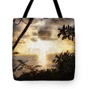 A Fiery Sunset Tote Bag