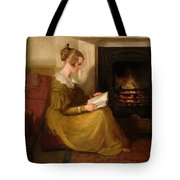 A Fireside Read Tote Bag