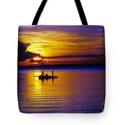 A Fisherman's Sunset  Tote Bag