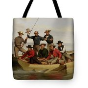 A Fishing Party Off Long Island Metal Tote Bag