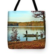 A Fishing We Will Go Tote Bag