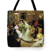 A Flamenco Party At Home Tote Bag by Francis Luis Mora
