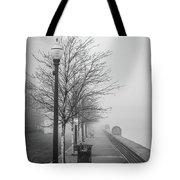 A Foggy Walkway Tote Bag