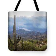 A Foggy Winter Morning  Tote Bag