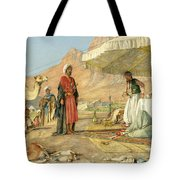 A Frank Encampment In The Desert Of Mount Sinai 1842 Tote Bag