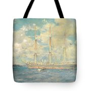 A French Barque In Falmouth Bay Tote Bag