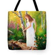 A Friendly Greeting Tote Bag by David G Paul