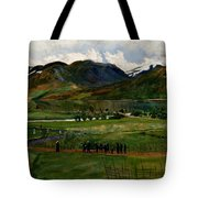 A Funeral Day In Jolster Tote Bag