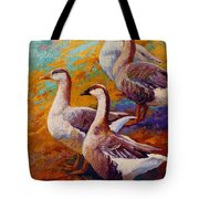 A Gaggle Of Four Tote Bag