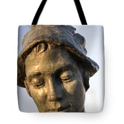 A Gansey Girl Portrait Tote Bag