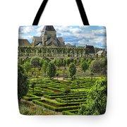 A Garden View At Chateau De Villandry Tote Bag