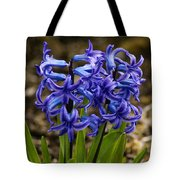 A Gathering Of Blues Tote Bag