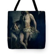 A Gaul And His Daughter Imprisoned In Rome Tote Bag by Felix-Joseph Barrias