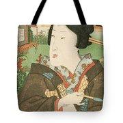 A Geisha With A Pipe Tote Bag