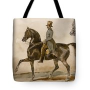 A Gentleman On Horseback With A Subsidiary Study Of The Horse's Head Tote Bag