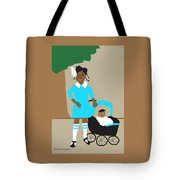 A Girl And Her Doll Tote Bag