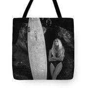 A Girl And Her Gun. Tote Bag