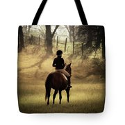 A Girl And Her Horse Tote Bag