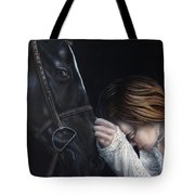 A Girl Who Loves Horses Tote Bag