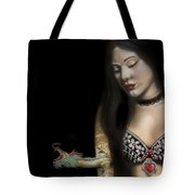 A Girl With A Dragon Tattoo Tote Bag