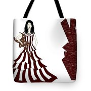 A Girl With Guitar  Tote Bag