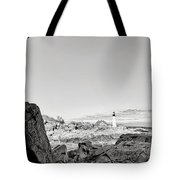 A Glimpse Of The Lighthouse Tote Bag