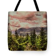 A Glimpse Of The Mountains Tote Bag