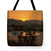 A Golden Sunset In Loas Tote Bag