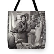 A Goldsmith's Shop In 15th Century Italy Tote Bag