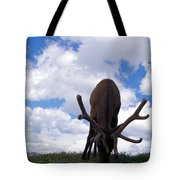 A Grazing Bull Elk Up Close Tote Bag
