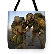 A Green Beret Inspects The Gear Tote Bag