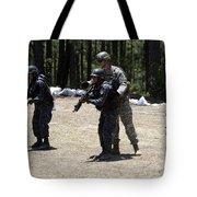A Green Beret Instructs Tigres Trainees Tote Bag