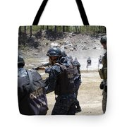 A Green Beret Walks With Tigres Tote Bag