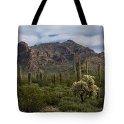 A Green Desert Forest  Tote Bag