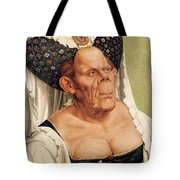 A Grotesque Old Woman Tote Bag