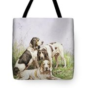 A Group Of French Hounds Tote Bag