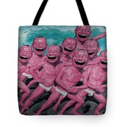 A Group Of People Laugh Tote Bag