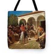 A Gypsy Dance In The Gardens Of Alcazar Tote Bag