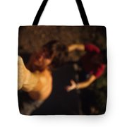 A Hand Catches A Hand Hold On A Boulder Tote Bag