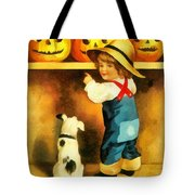 A Happy Halloween Puppy Tote Bag