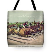 A Head And Head Finish Tote Bag