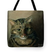 A Head Study Of A Tabby Cat Tote Bag