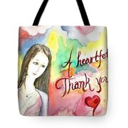 A Heartful Thank You Tote Bag