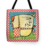 A Hen Is An Eggs Way Tote Bag