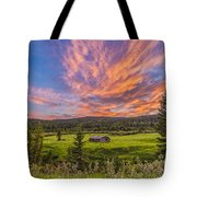 A High Dynamic Range Photo Of A Sunset Tote Bag
