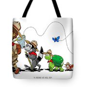 A Hiking We Will Go Tote Bag
